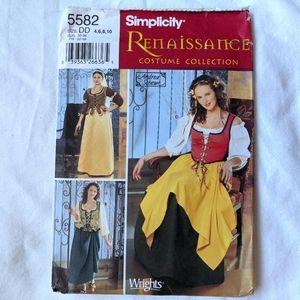 Simplicity 5582 Uncut Pattern Renaissance Costume